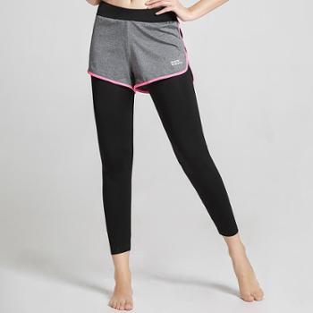 埃尔蒙特ALPINTMOUNTAIN女款运动跑步健身显瑜伽裤假两件