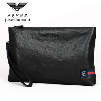 卓梵阿玛尼男士手包手机包男包大容量信封包手拿包真皮牛皮