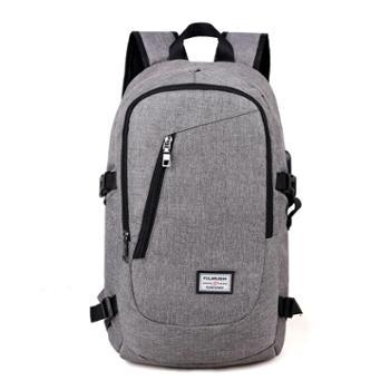 双肩包男usb充电电脑背包户外运动休闲旅行包