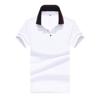 斯尔比特男士短袖t恤翻领休闲纯色半袖18303
