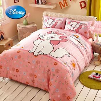 disney迪士尼卡通儿童床品三件套男孩女孩公主米奇维尼