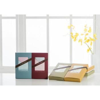 竹印象竹纤维毛巾2条礼盒装糖果色毛巾美容洁面柔软吸水抗菌防臭生活毛巾