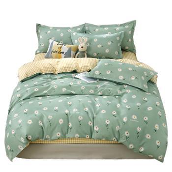 木辛梓 床上用品套件 200cm×230cm亲肤棉印花四件套 双人床单被套