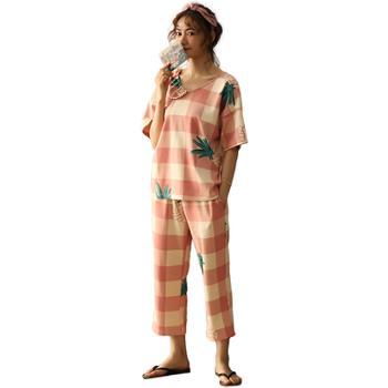 菲蜜莉睡衣女纯棉甜美家居服可爱清新套装