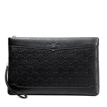 芬莎顿·王冠男士手拿包时尚压花信封包大容量ipad的手包商务男包