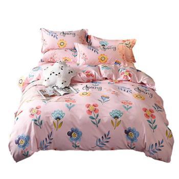 罗莱雅 全棉磨毛加厚四件套床上用品 棉