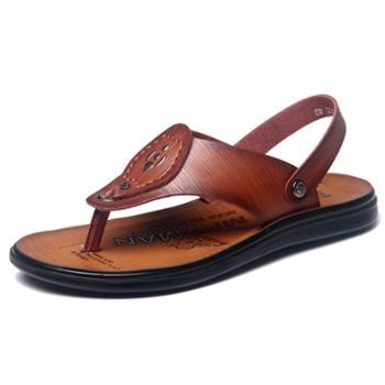 牧惠森时尚潮流防滑夹趾人字拖男士拖鞋