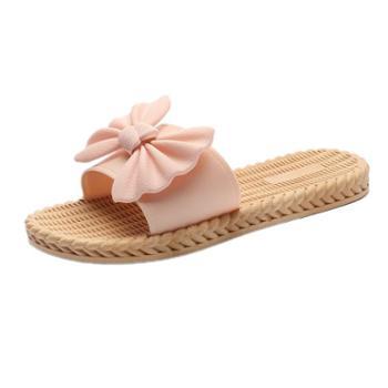 宜斯莱克韩版女士时尚蝴蝶结百搭外穿凉拖鞋