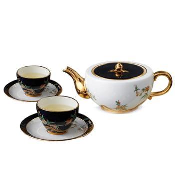 金和汇景·夫人瓷石榴家园6头中式茶具