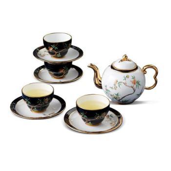 金和汇景-夫人瓷石榴家园14头圆壶茶具