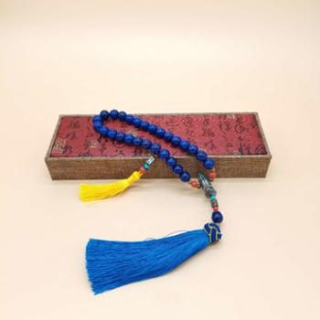 金和汇景-法门寺开光香灰瓷珠车挂宝石蓝