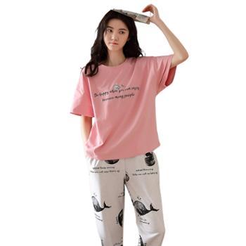 馨霓雅 女款短袖长裤休闲家居服 系列