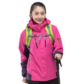 雷宾迪户外冲锋衣男女三合一两件套抓绒保暖冲锋衣冬160A176A