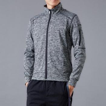 雷宾迪/LEIBINDI新款户外运动保暖卫衣男士秋季立领薄款外套弹力透气运动外套1970