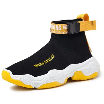LEIBINDI/雷宾迪高帮袜子鞋飞织椰子鞋增高老爹运动鞋JD-CL8807