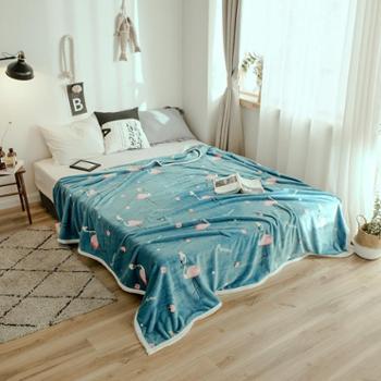 木辛梓云貂绒毛毯春秋冬天毯盖毯单人床单空调毯150*200CM