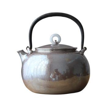 银壶纯银烧水壶纯手工北村静香款玉摘铁提梁壶口打出家用