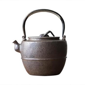 鹤川造物 银壶纯银烧水壶纯手工口打出日式家用银壶茶具煮水银壶茶道