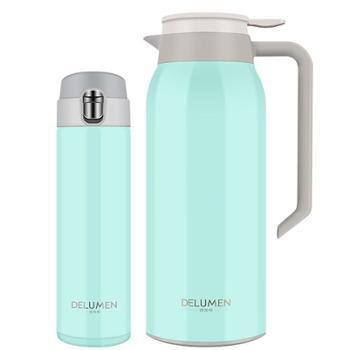 德鲁曼 摩根系列套装保温壶保温杯组合 男士女士家用304不锈钢水具保温水杯