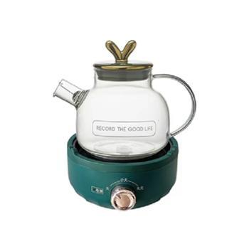 萌圈 祖母绿养生壶办公室花茶壶家用多功能煮茶器 700W