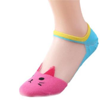 哈伊费舍女士透明棉短袜袜子2双装