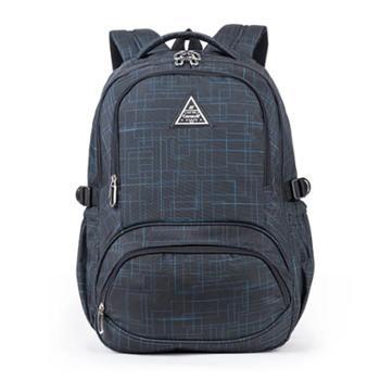 卡拉羊休闲双肩包大容量背包学生电脑包运动学生书包防泼水旅行包5005