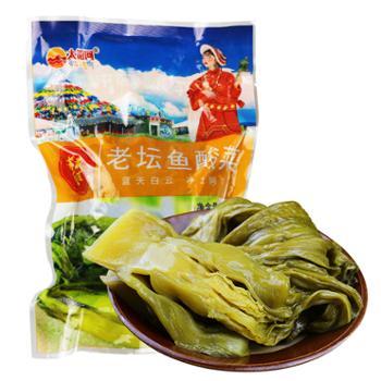 太阳河高原老坛鱼酸菜400g/袋*6袋