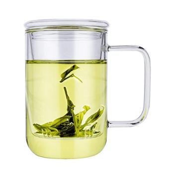 物生物君子杯玻璃杯简约居家时尚水杯子400ml
