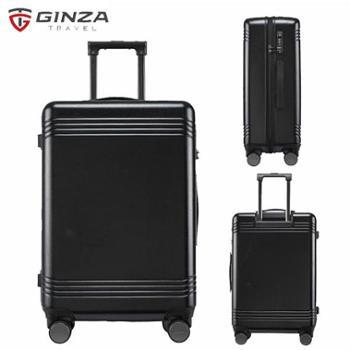 银座GINZA28寸德国拜耳PC行李箱静音耐磨万向轮拉杆箱A-9267L