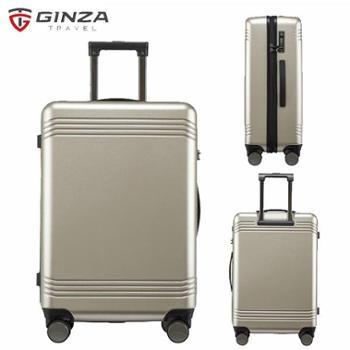 银座/GINZA20寸静音耐磨万向轮拉杆箱德国拜耳PC行李箱A-9267L