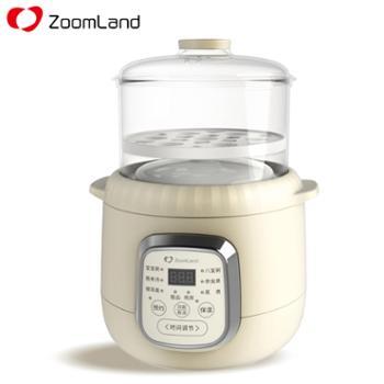卓朗Zoomland 多用迷你电炖盅 ZL-D10 24小时智能预约 1L