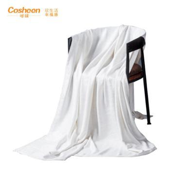 可欣家纺竹纤维雕花抗菌毯150*200CM