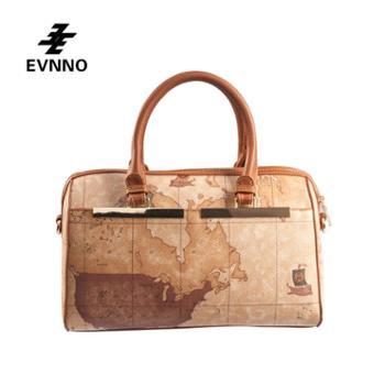 意威诺(evnno)手提枕头包 大容量限量地图款式 B227-16