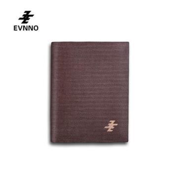 意威诺(evnno)男士竖短款钱包 磨砂工艺 真皮硬款 Q3483-A2K