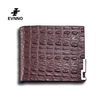 意威诺(evnno)短款钱包 超薄鳄鱼纹头层牛皮钱夹 Q0451