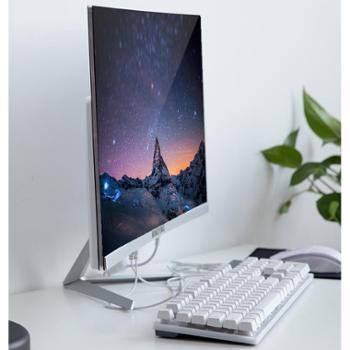 i7处理器曲面超薄一体机电脑台式全套23.6英寸高配吃鸡游戏型独显组装电脑迷你家用办公主机台式整机