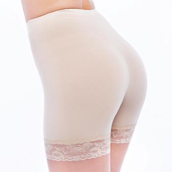 浪莎安全裤防走光女三分裤蕾丝性感保险裤莫代尔三分打底内裤