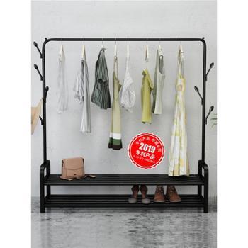 豪美佳晾衣架落地折叠室内单杆式晒衣架卧室挂衣架家用简易凉衣服的架子