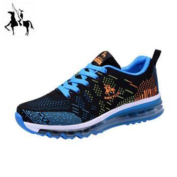 保罗气垫男鞋子2019男士运动休闲鞋跑步鞋男韩版潮鞋学生百搭运动鞋飞织鞋