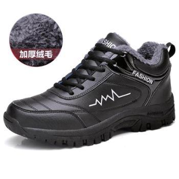 自由绽放男休闲鞋运动鞋棉鞋保暖防水舒适透气内里防滑男鞋092