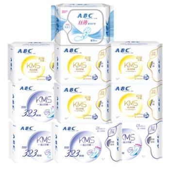 ABC卫生巾日用夜用护垫组合套装棉柔共10包