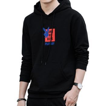 花花公子连帽卫衣男圆领T恤SYH302