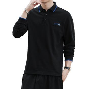 花花公子休闲长袖polo衫男长袖T恤SY6081