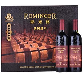 耶米格超市礼盒干红葡萄酒卢瓦尔原汁750ml*2+350ml*2
