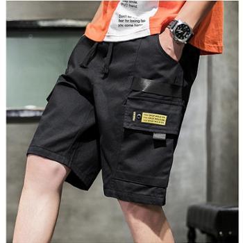 Aeroline夏季裤子男韩版潮流ins工装短裤宽松五分裤日系休闲中裤