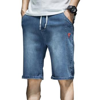 Aeroline夏季大码男宽松五分休闲工装牛仔短裤