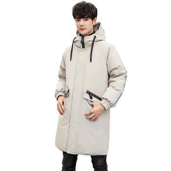 柏誉/Aeroline 男士羽绒服 冬季加厚男中长款过膝修身青年羽绒外套