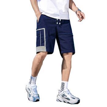 柏誉/Aeroline 男士短裤 大口袋宽松直筒五分裤