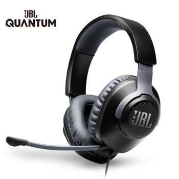 JBL 手机电脑头戴式电竞游戏有线耳机 耳麦带麦克风 QUANTUM100吃鸡耳麦