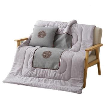 芳恩 苏绣竹麻抱枕被 FN-R7002 40╳40cm 打开100╳150cm